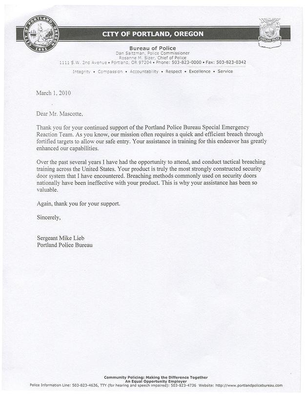 Police Testimonials