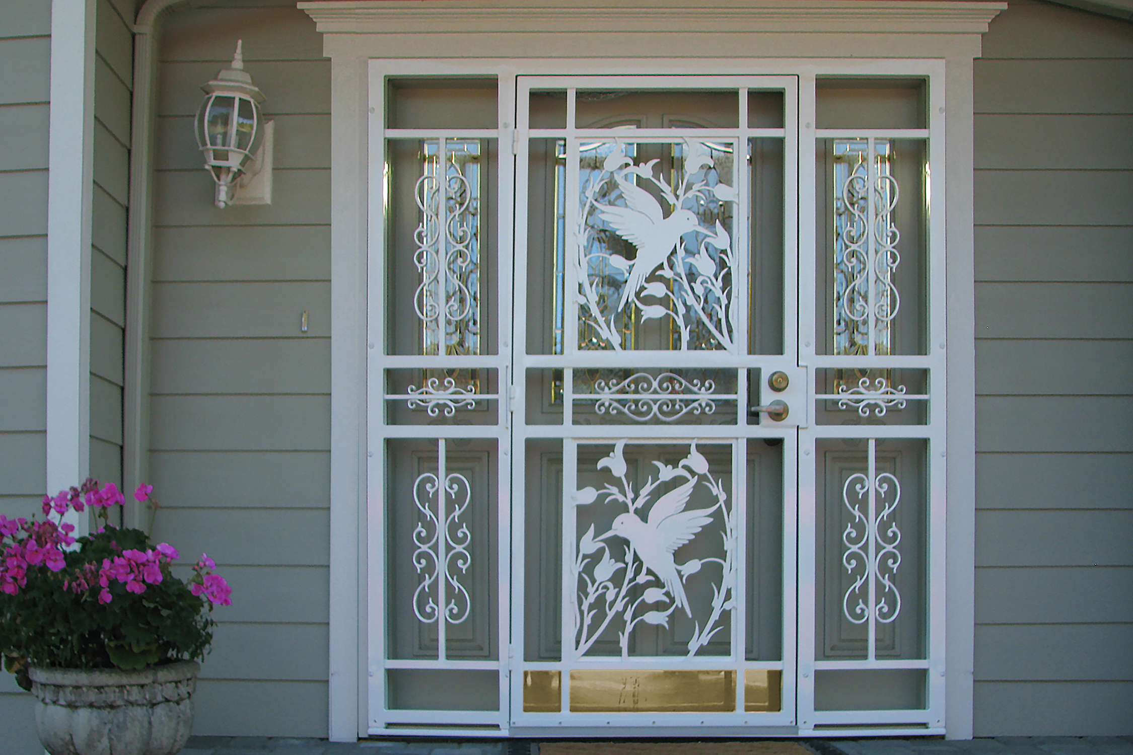 Gallery three custom craftsman series doors mascotte security hummingbird double vtopaller Choice Image