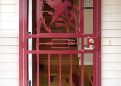 security-doors-custom-craftsman-series-hummingbird-rectangle-red