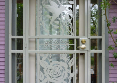 security-doors-custom-craftsman-series-hummingbird-rose-grey